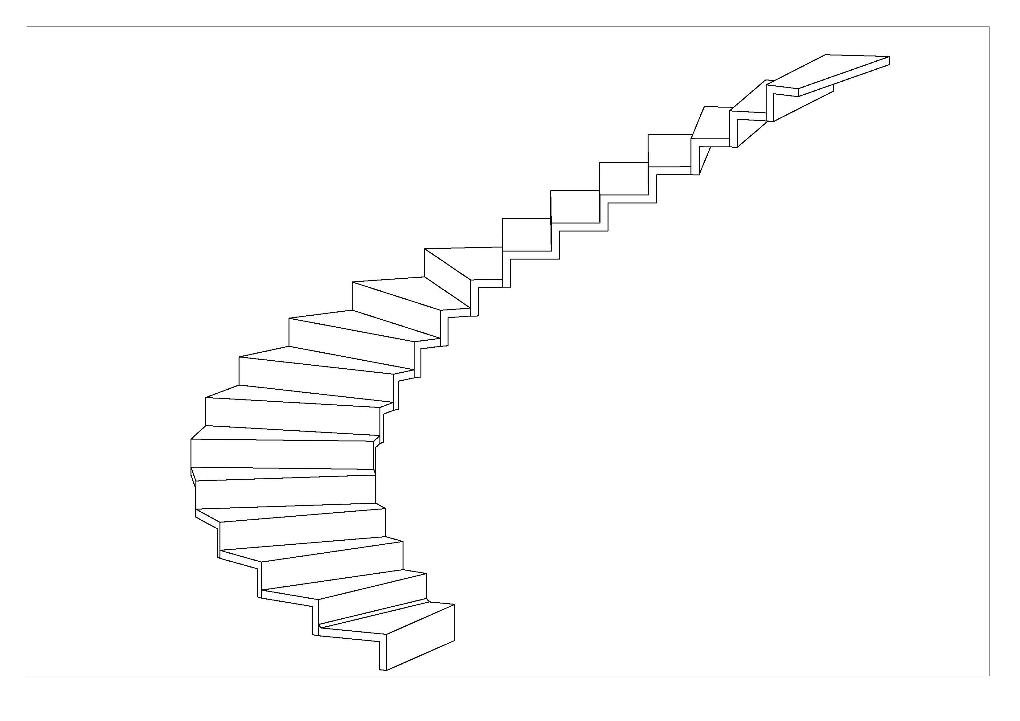 3D accordion stair
